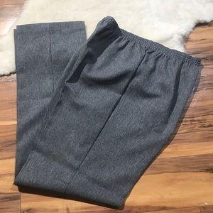 💎 NWOT Solos By Koret Elastic Waist Gray Pants 14